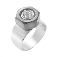 Screw Ring with Nut Motif, Screw it Collection